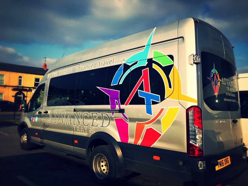 Ford Transit Minibus Hire Rear Side View