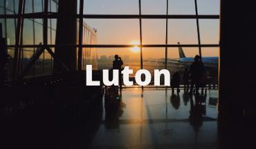 Luton Airport departures lounge
