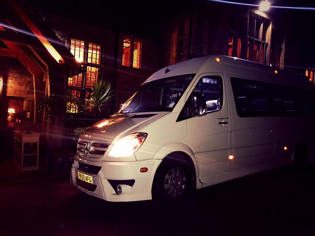 Luxury Minibus Wedding Hire Night