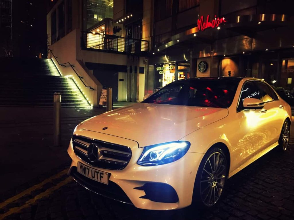 Mercedes-Benz-E-Class-Chauffeur-Hire-Hotel-Pickup-Front