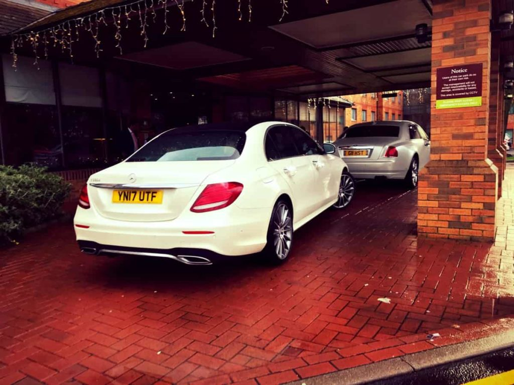 Mercedes-Benz-E-Class-Chauffeur-Hire-Wedding-Rear