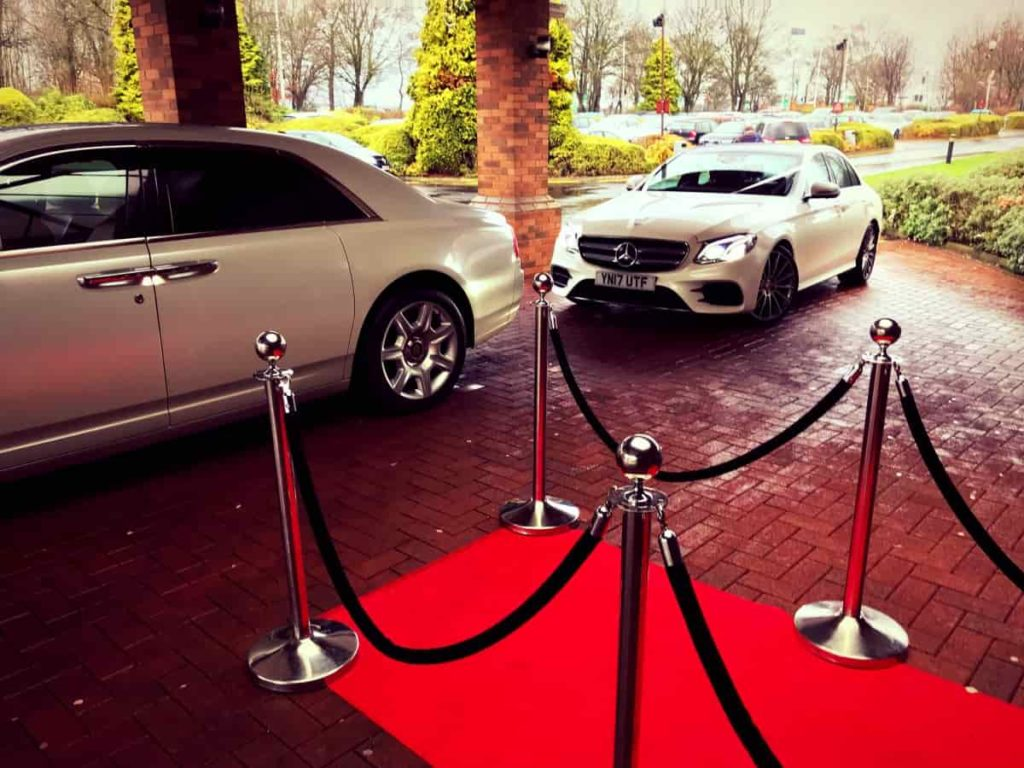 Mercedes-Benz-E-Class-Chauffeur-Hire-Wedding-White-Ribbon