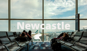 Departures lounge at Newcastle Airport