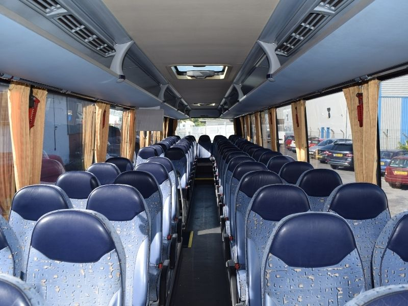 Interior of 61 Seater Coach