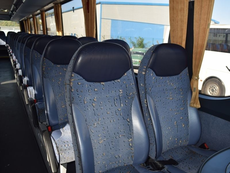 Close Up Of Seats In Coach YN57 AEB